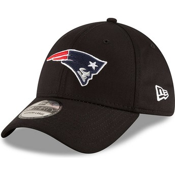 New Era Curved Brim 39THIRTY Base New England Patriots NFL Black Fitted Cap