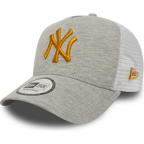 new-era-yellow-logo-9forty-essential-jersey-new-york-yankees-mlb-grey-trucker-hat