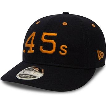 New Era Flat Brim 9FIFTY Low Profile Flannel Houston Colts MLB Black Snapback Cap