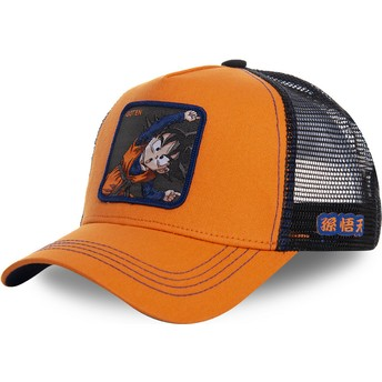Capslab Goten Fusion GTN1 Dragon Ball Orange Trucker Hat
