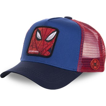 Capslab Spider-Man SPI1 Marvel Comics Blue and Red Trucker Hat