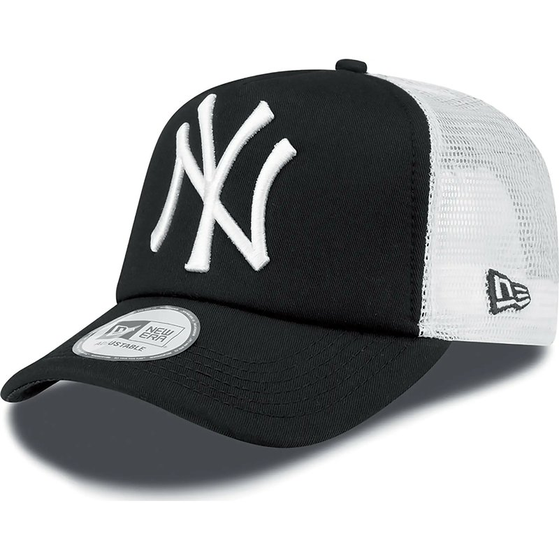 new-era-clean-a-frame-new-york-yankees-mlb-black-trucker-hat
