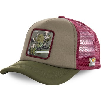 Capslab Yoda YOD4M Star Wars Green and Red Trucker Hat