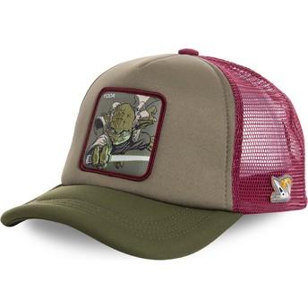Capslab Yoda YOD4M Star Wars Green and Red Trucker Hat