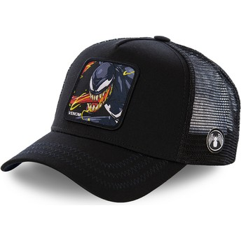 Capslab Venom VEN2 Marvel Comics Black Trucker Hat