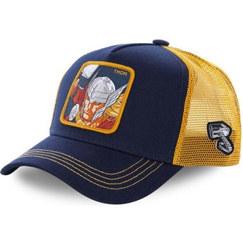 Capslab Thor THO1 Marvel Comics Navy Blue and Yellow Trucker Hat