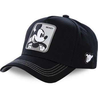 Capslab Curved Brim Mickey Mouse MIC3 Disney Black Snapback Cap