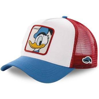 Gorra trucker blanca, roja y azul Pato Donald DUC2 Disney de Capslab