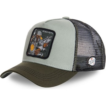 Capslab Boba Fett BOB3 Star Wars Green Trucker Hat