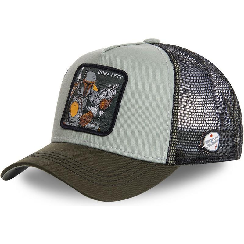 a1413ce044c Capslab Boba Fett BOB3 Star Wars Green Trucker Hat  Shop Online at ...