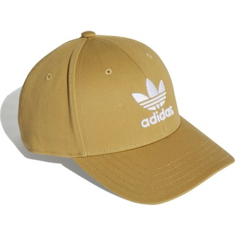 Adidas Curved Brim Trefoil Baseball Brown Adjustable Cap