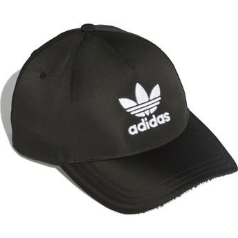Adidas Curved Brim Trefoil Sandwich Black Adjustable Cap