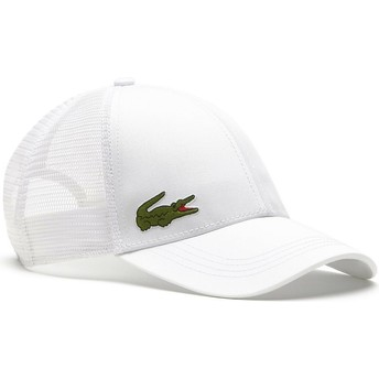 Lacoste White Trucker Hat