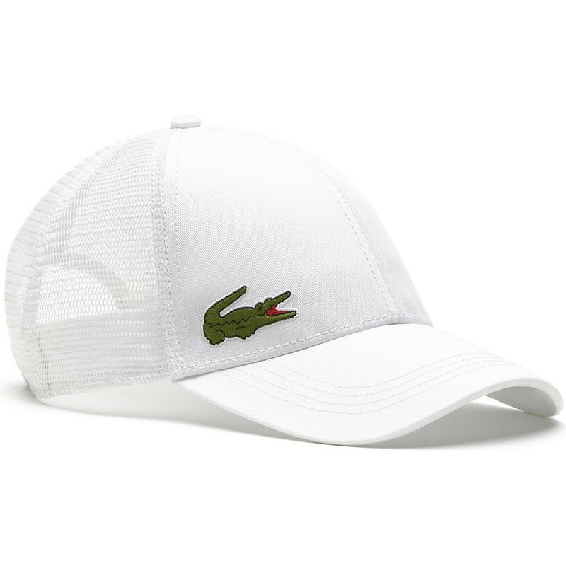 54d79ce736 Lacoste White Trucker Hat: Shop Online at Caphunters