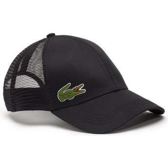 Lacoste Black Trucker Hat