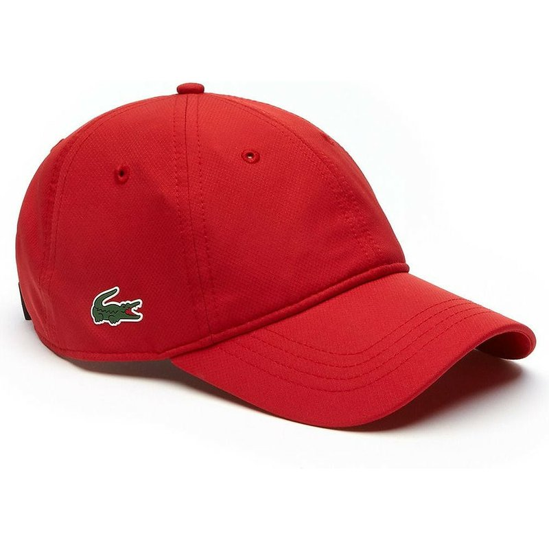36a2fd9895 Lacoste Curved Brim Basic Dry Fit Red Adjustable Cap: Shop Online at ...