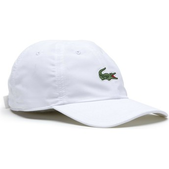 Lacoste Curved Brim Croc Microfibre White Adjustable Cap