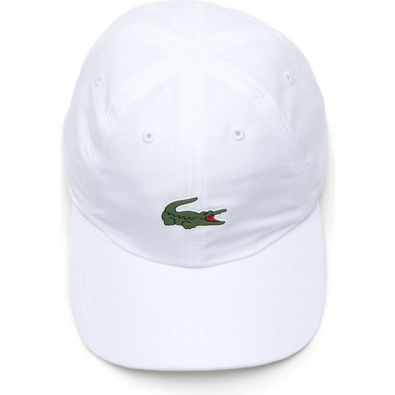 4604bf883c Lacoste Curved Brim Croc Microfibre White Adjustable Cap: Shop ...