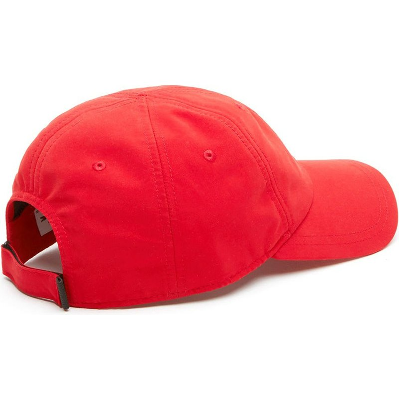 79e01e9b86 Lacoste Curved Brim Croc Microfibre Red Adjustable Cap: Shop Online ...