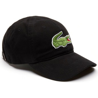 Lacoste Curved Brim Big Croc Gabardine Black Adjustable Cap
