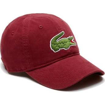 Lacoste Curved Brim Big Croc Gabardine Maroon Adjustable Cap