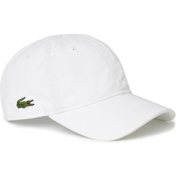 Lacoste Curved Brim Basic Side Crocodile White Adjustable Cap