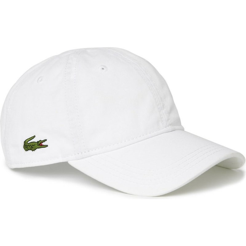 e5511e2e5f Lacoste Curved Brim Basic Side Crocodile White Adjustable Cap: Shop ...