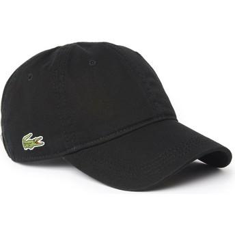 Lacoste Curved Brim Basic Side Crocodile Black Adjustable Cap