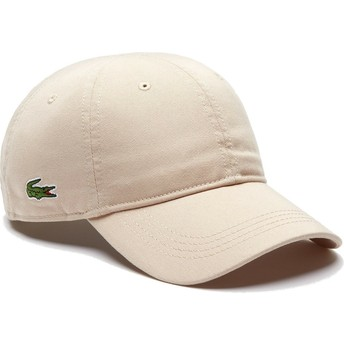 Lacoste Curved Brim Basic Side Crocodile Beige Adjustable Cap