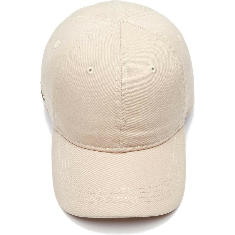 c1d0e8f7ad Lacoste Curved Brim Basic Side Crocodile Beige Adjustable Cap: Shop ...