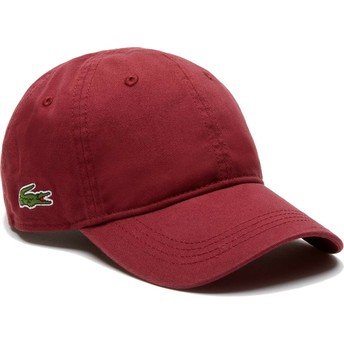 Lacoste Curved Brim Basic Side Crocodile Maroon Adjustable Cap