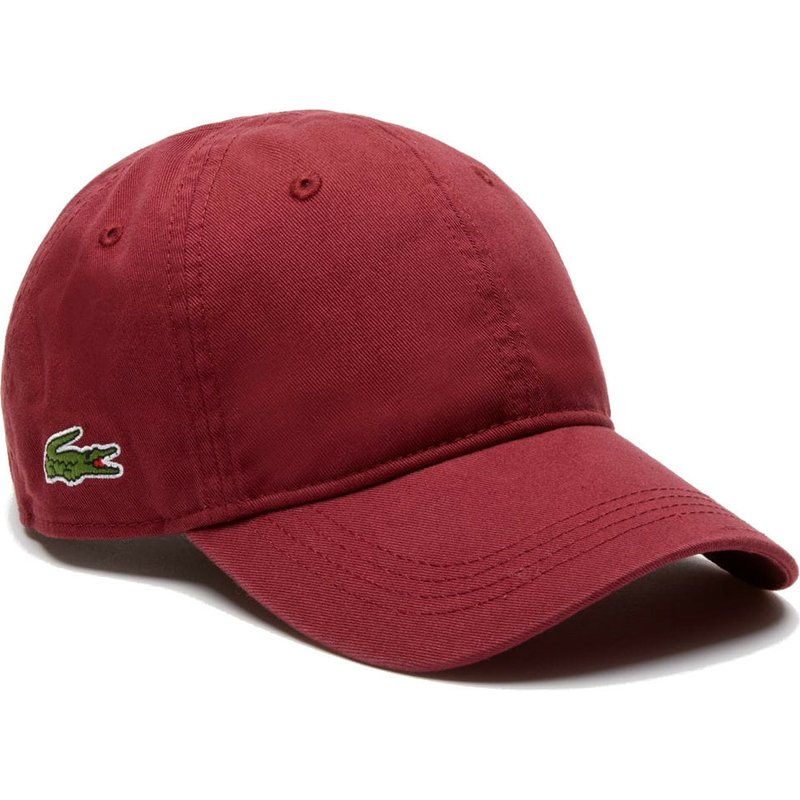 defbbd2c1 Lacoste Curved Brim Basic Side Crocodile Maroon Adjustable Cap  Shop ...