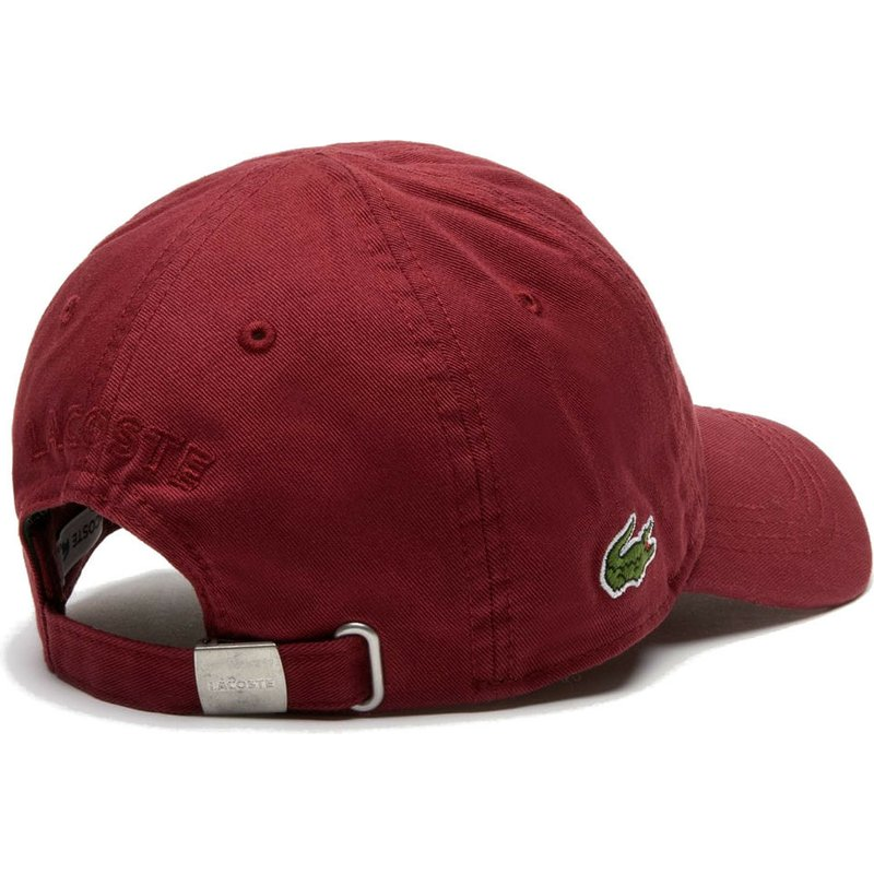 8c1d0a29cb Lacoste Curved Brim Basic Side Crocodile Maroon Adjustable Cap: Shop ...