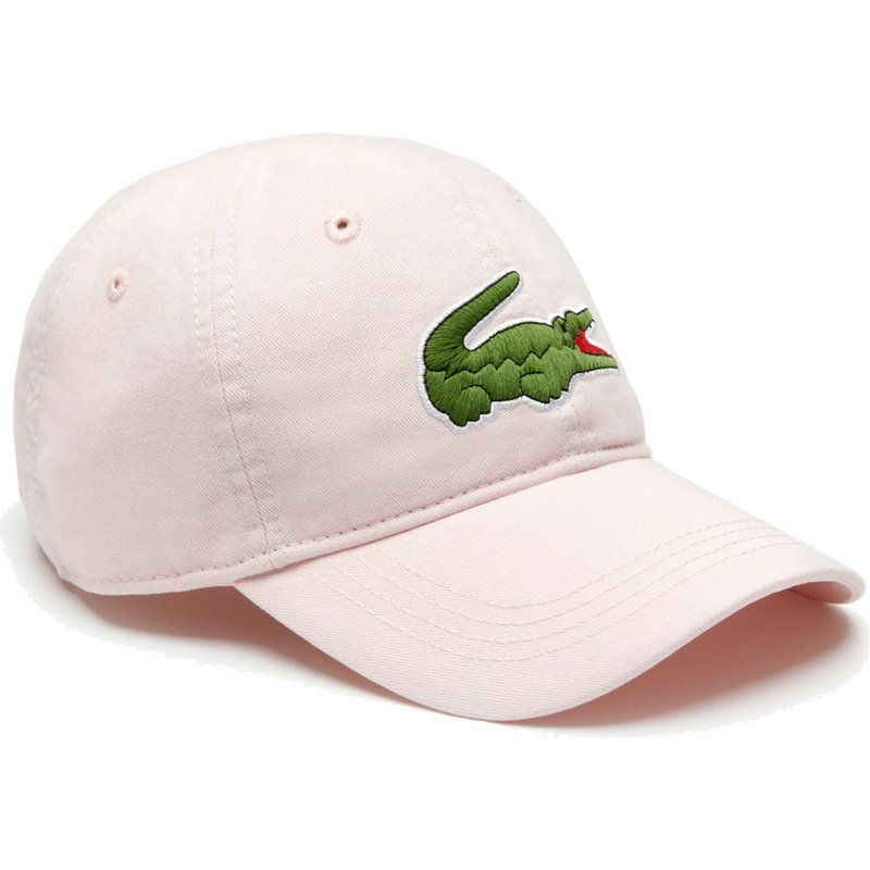 368f7c0a26 Lacoste Curved Brim Big Croc Gabardine Light Pink Adjustable Cap ...