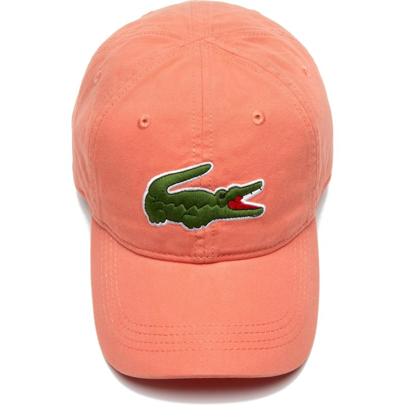 949db40bcb Lacoste Curved Brim Big Croc Gabardine Light Orange Adjustable Cap ...