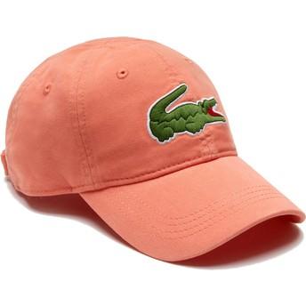 Lacoste Curved Brim Big Croc Gabardine Light Orange Adjustable Cap