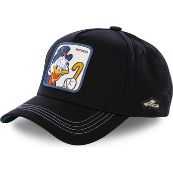 Capslab Curved Brim Scrooge McDuck SCR3 Disney Black Snapback Cap