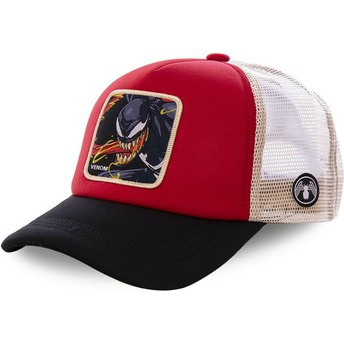 Gorra trucker roja, blanca y negra Venom VEN4M Marvel Comics de Capslab