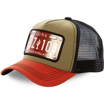 Von Dutch Arizona Plate ARI2 Brown, Orange and Black Trucker Hat