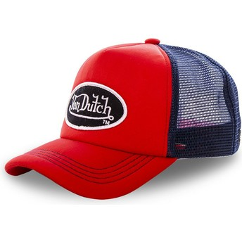Von Dutch FAO RED Red and Blue Trucker Hat