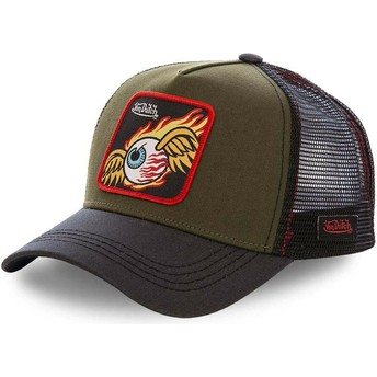 Von Dutch GRN3 Brown and Black Trucker Hat
