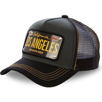 Von Dutch Los Angeles Plate LOS2 Black Trucker Hat