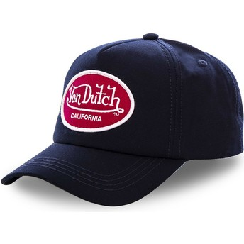 Von Dutch Curved Brim MAR Navy Blue Snapback Cap