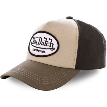 Von Dutch Curved Brim TOI1 Brown Snapback Cap