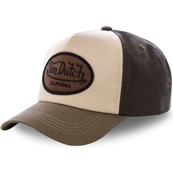 Von Dutch Curved Brim TOI2 Brown Snapback Cap