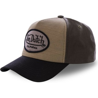 Von Dutch Curved Brim TOI3 Brown Snapback Cap