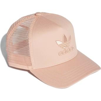 Adidas Pink Logo Trefoil Pink Trucker Hat