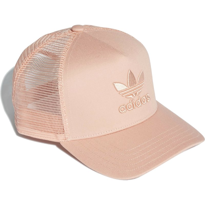 943e76299a94a Adidas Pink Logo Trefoil Pink Trucker Hat  Shop Online at Caphunters