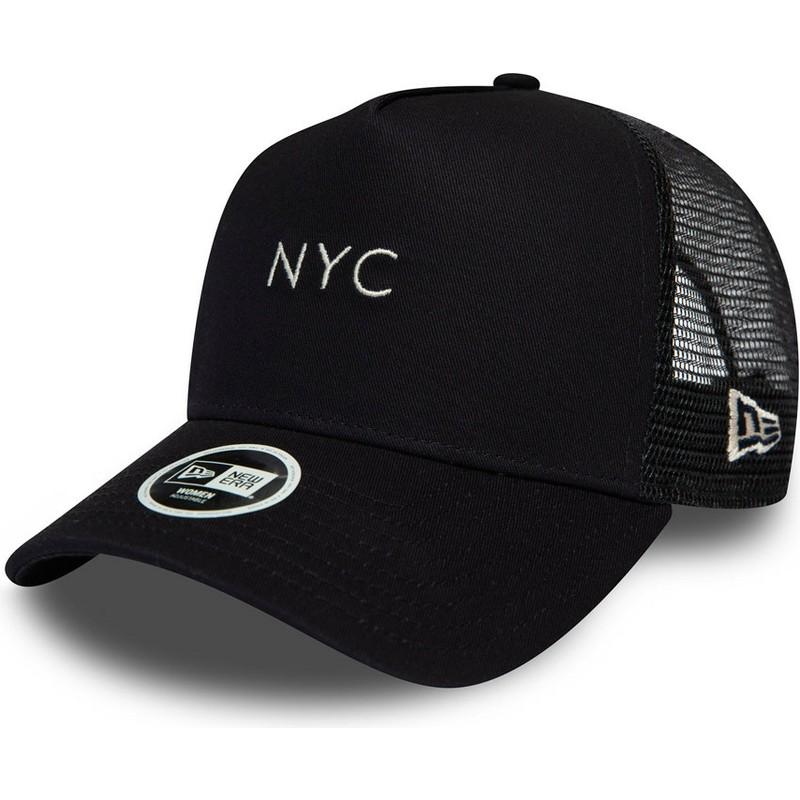 84cc9d8d2 New Era 9FORTY Seasonal NYC Navy Blue Trucker Hat
