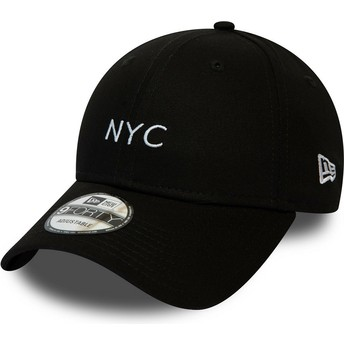 New Era Curved Brim 9FORTY Seasonal NYC Black Adjustable Cap